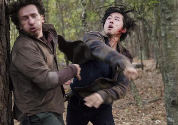 Glen punches Nicholas